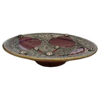 Moroccan Hand-Engraved Ceramic Bowl