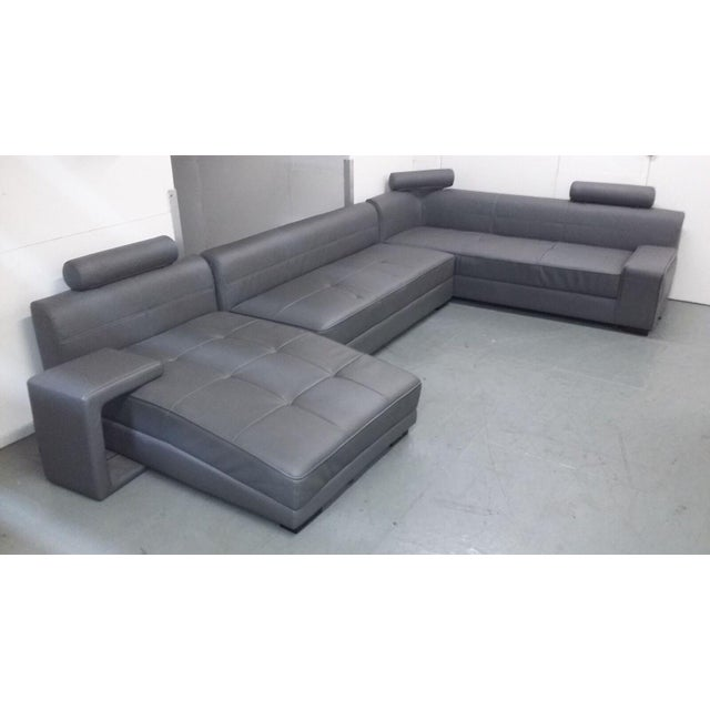 Modern Gray Sectional Sofa - Image 2 of 8