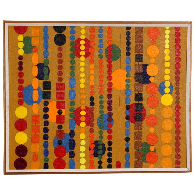Beaded Curtain Painting by D. Schiller - Image 1 of 4