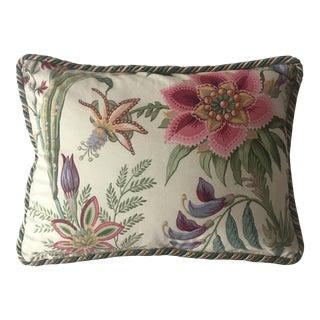 Donghia Pink Pantone Orchid Floral Lumbar Pillow