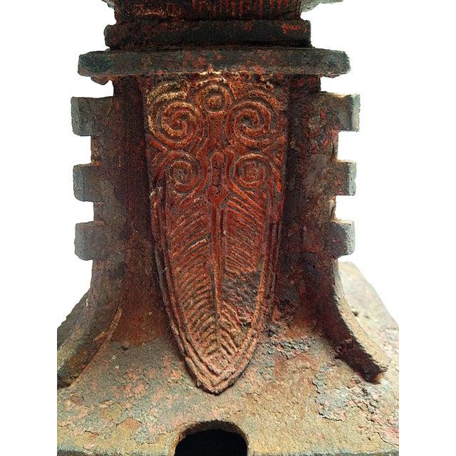 Qing Dynasty Iron Gu Vase Lamps - Pair - Image 10 of 11