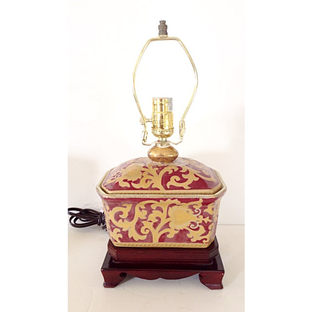 Small Porcelain Asian Table Lamp - Image 3 of 3
