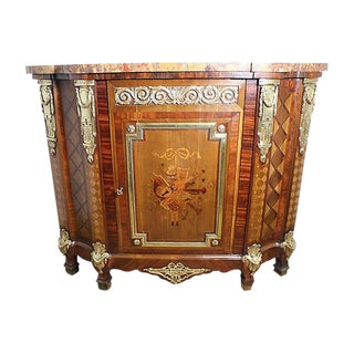 French Gilt Bronze Mounted Inlaid Cabinet