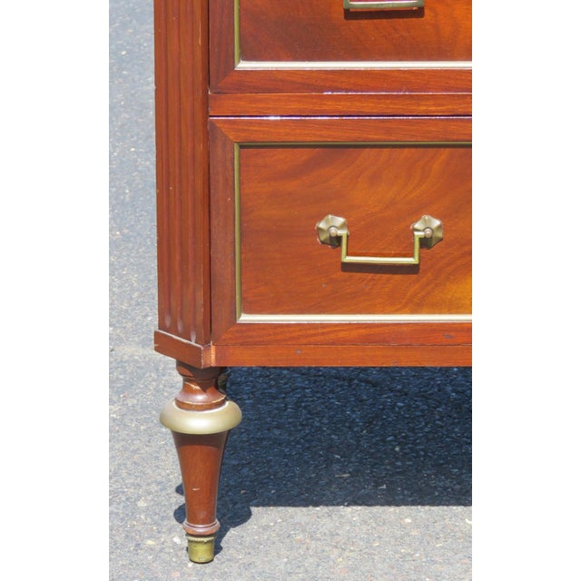 Image of Jansen Style Marble Top Commode