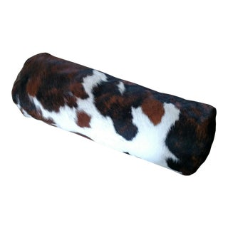 Deneen Cowhide Bolster Pillow