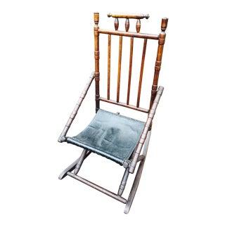 1920's Vintage Spindle Back Rocking Chair