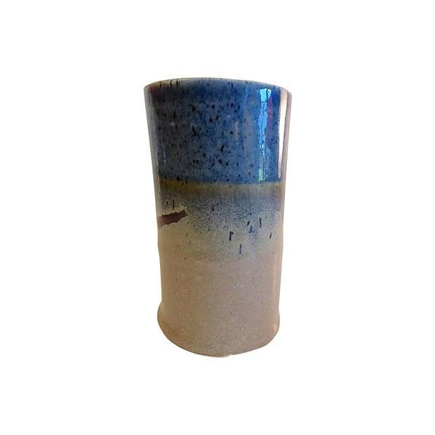 Handmade Signed Pottery Vase - Image 2 of 5