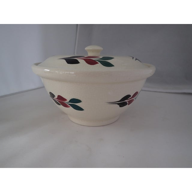 Vintage Hand Painted Lidded Bowl - Image 5 of 7