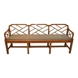 Smith & Watson Faux Tortoise Fretwork Bench
