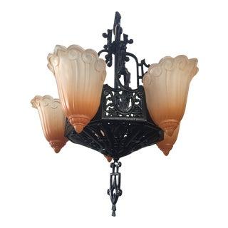 Lincoln Mfg Antique Art Deco Chandelier