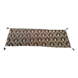 Authentic Burgundy Turkish Motif Table Runner