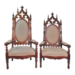 King and Queen Throne Chairs - A Pair