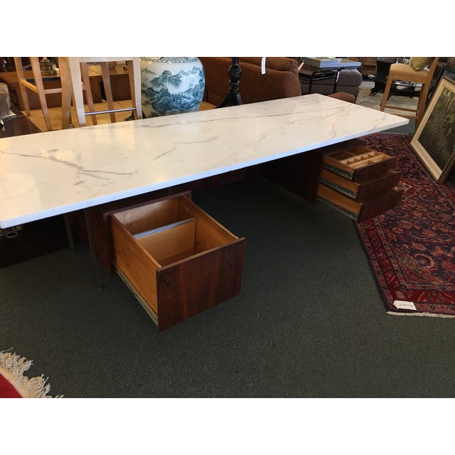 Mid-Century Executive Desk, Marble Top - Image 6 of 11
