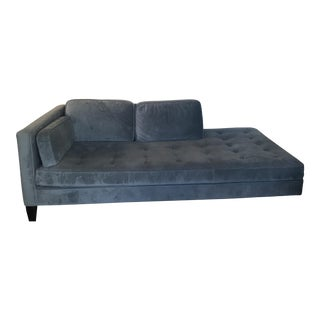Room & Board Cloud Blue Velvet Hutton Chaise