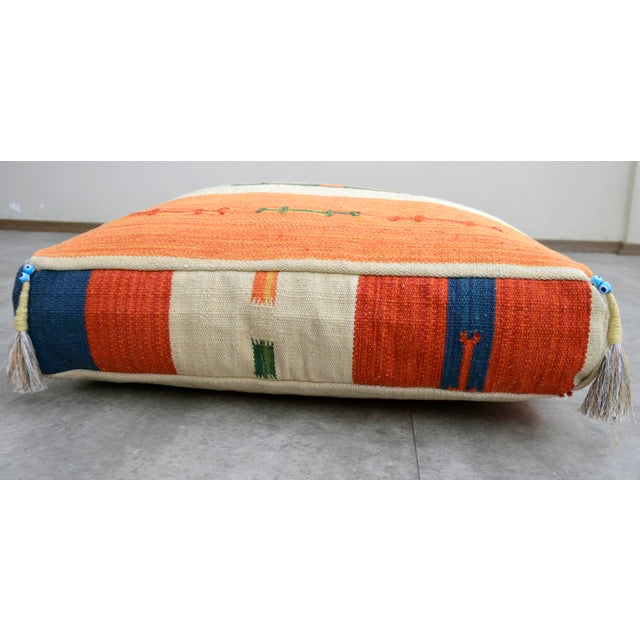 Turkish Hand Woven Floor Cushion Cover Cotton - 26″ X 26″ - Image 3 of 8