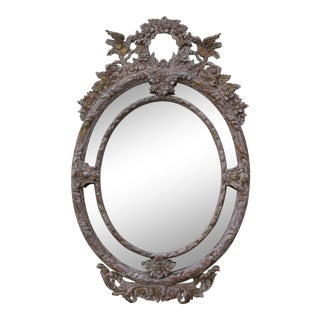 French Louis XV Style Rococo Oval Mirror