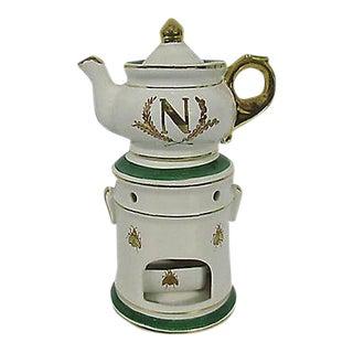 French Napoleon III Tisaniere Porcelain Teapot & Nightlight