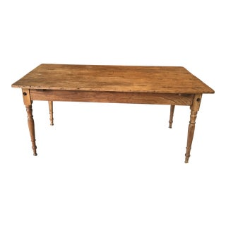 Antique Scandinavian Pine Farm Table