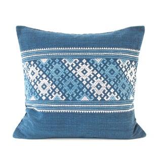 Blue And White Indigo Pillow
