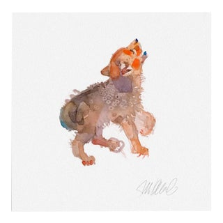 Premium giclee print of howling pup