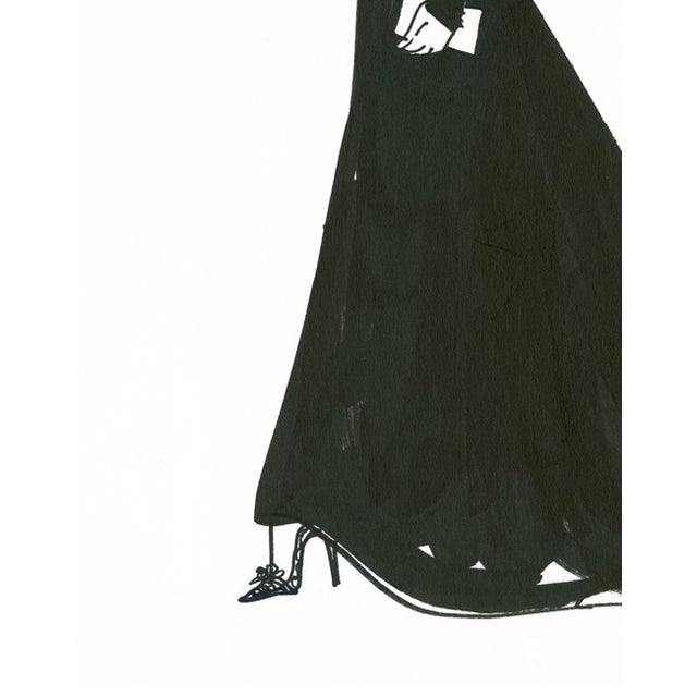"Daniela Kamiliotis ""Diana"" Fashion Illustration - Image 3 of 3"