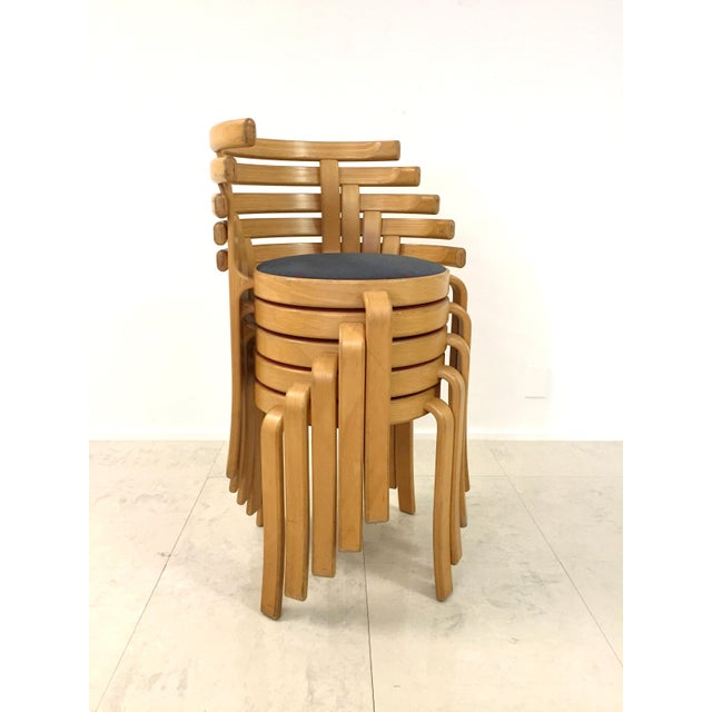 Danish Magnus Olesen Stacking Chairs - Set of 5 - Image 2 of 8