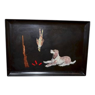 Couroc of Monterey Inlaid Tray With Hunting Scene