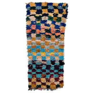 "Moroccan Boucherouite Rag Carpet - 5'11""x2'8"""
