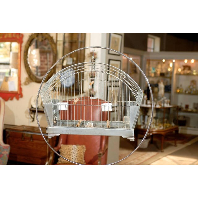 Hendryx American Art Deco Bird Cage on Stand - Image 5 of 5