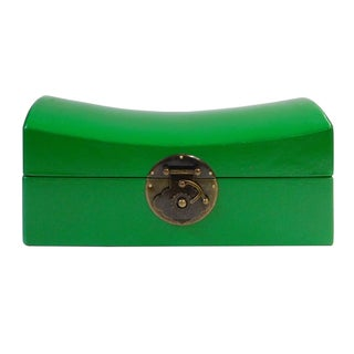 Chinese Green Pillow Shaped Box