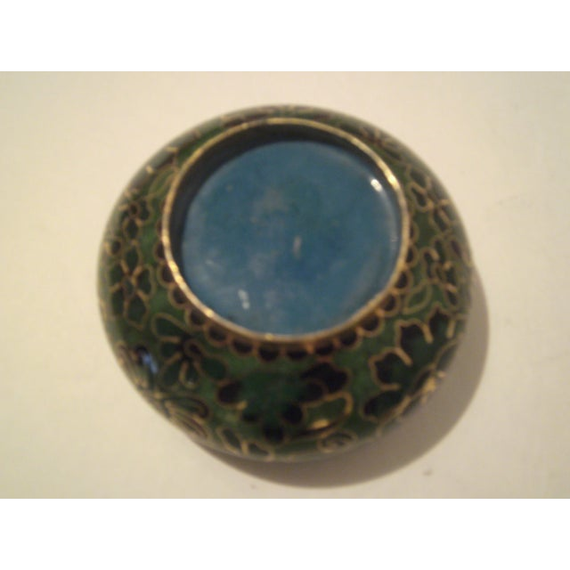 Emerald Green Cloisonne Footed Bowl - Image 5 of 8