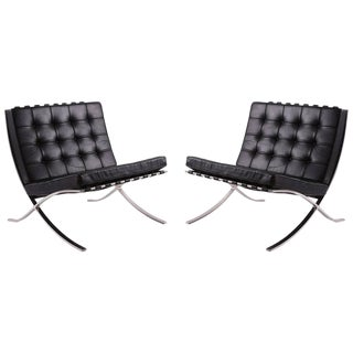 Design Within Reach Barcelona Chairs - A Pair