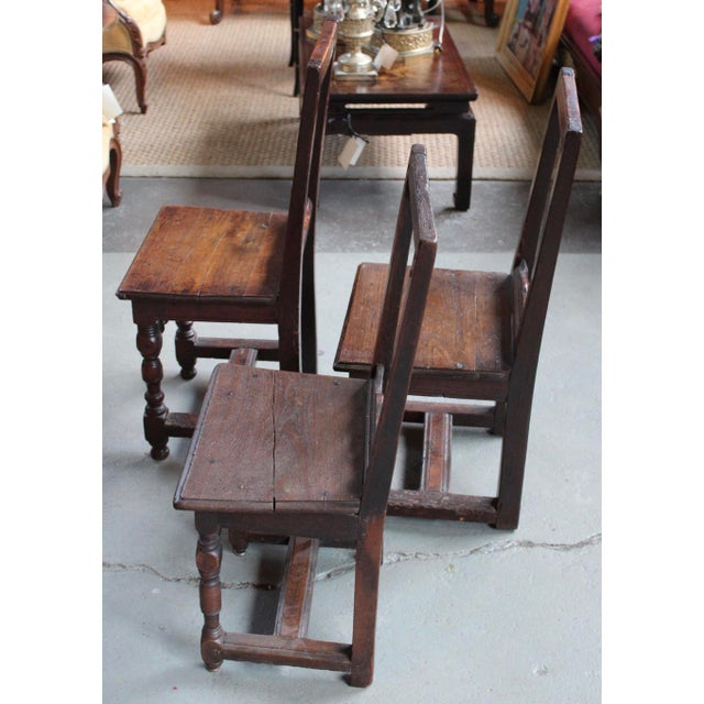 Antique Oak Nun's Chairs - Set of 3 - Image 3 of 10