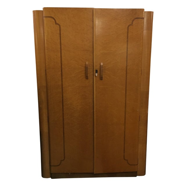 Image of 1920's Agran Clothing Armoire by London Furniture