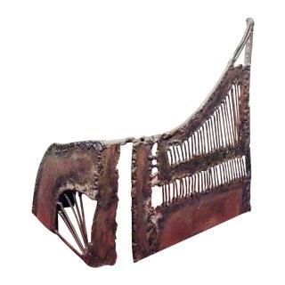 Mid-Century Modern Brutalist Metal Sculpture