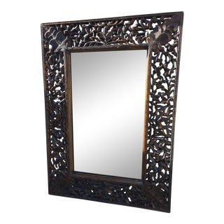 Balinese Hand Carved Wood Mirror