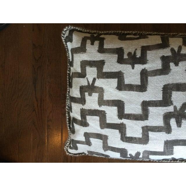 Image of Custom Brown & White Geometric Lumbar Pillow