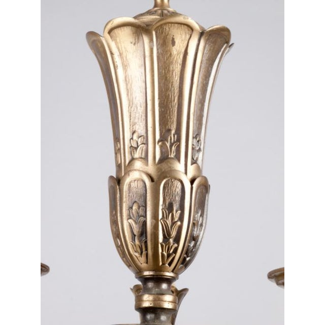 French Gilded Bronze Chandelier circa 1920's - Image 7 of 9