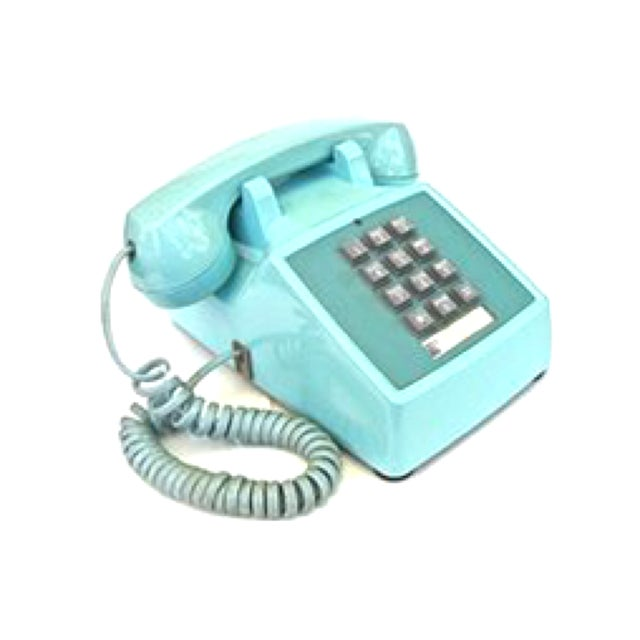 Image of Vintage Blue Touch Tone Telephone