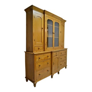 Pine Cornish Breakfront Dresser