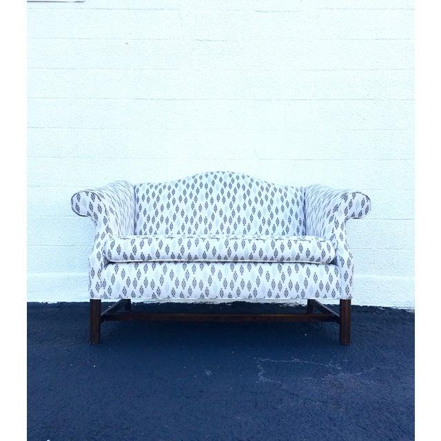 Vintage Camel Back Chippendale Loveseat Sofa - Image 2 of 8