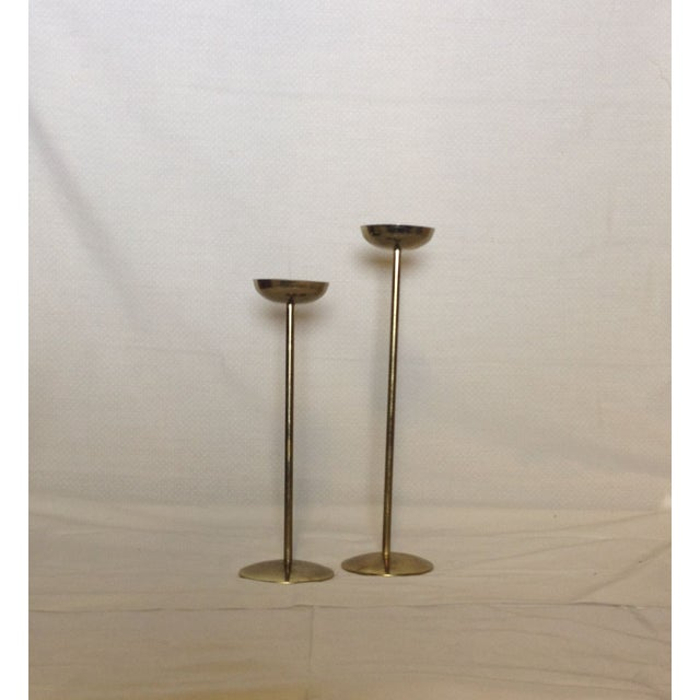 Image of Brass Candlesticks - Pair