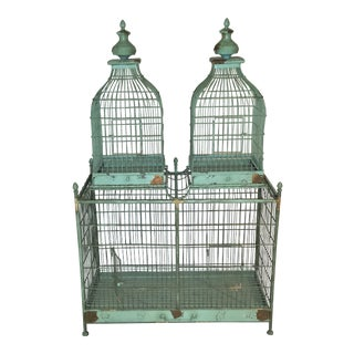 Huge French Metal Dome Birdcage