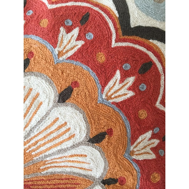 Large Suzani Crewelwork Pillow - Image 4 of 7