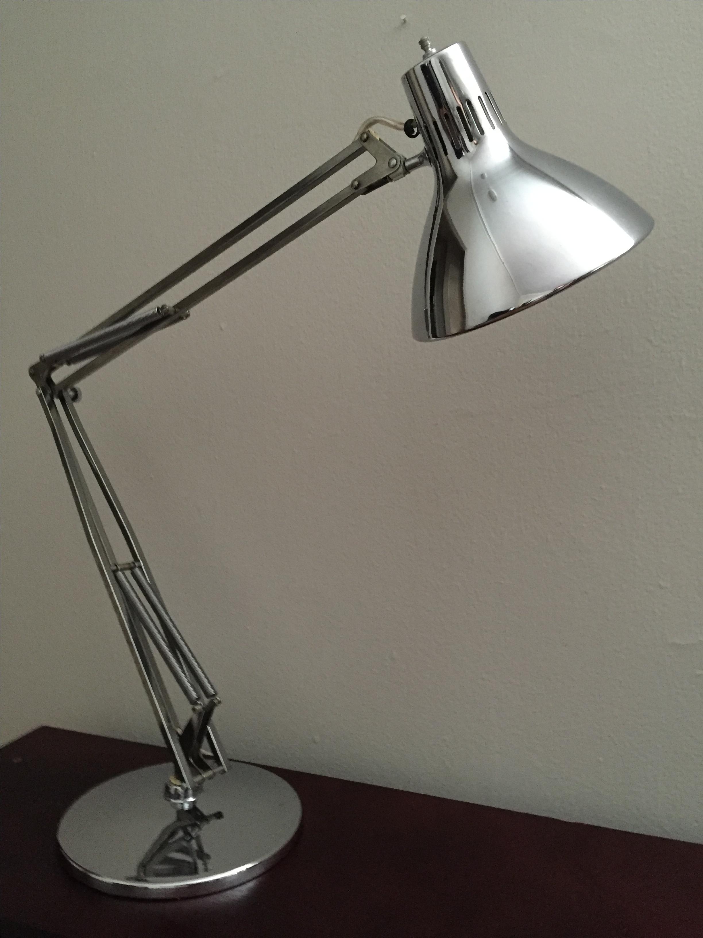 Vintage Luxo Articulated Chrome Desk Lamp Chairish