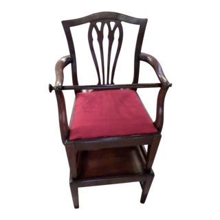 George III Mahogany Child's High Chair