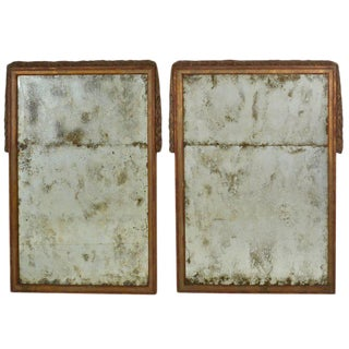 Pair of Large Niermann Weeks Neoclassical Mirrors with Antiqued Glass
