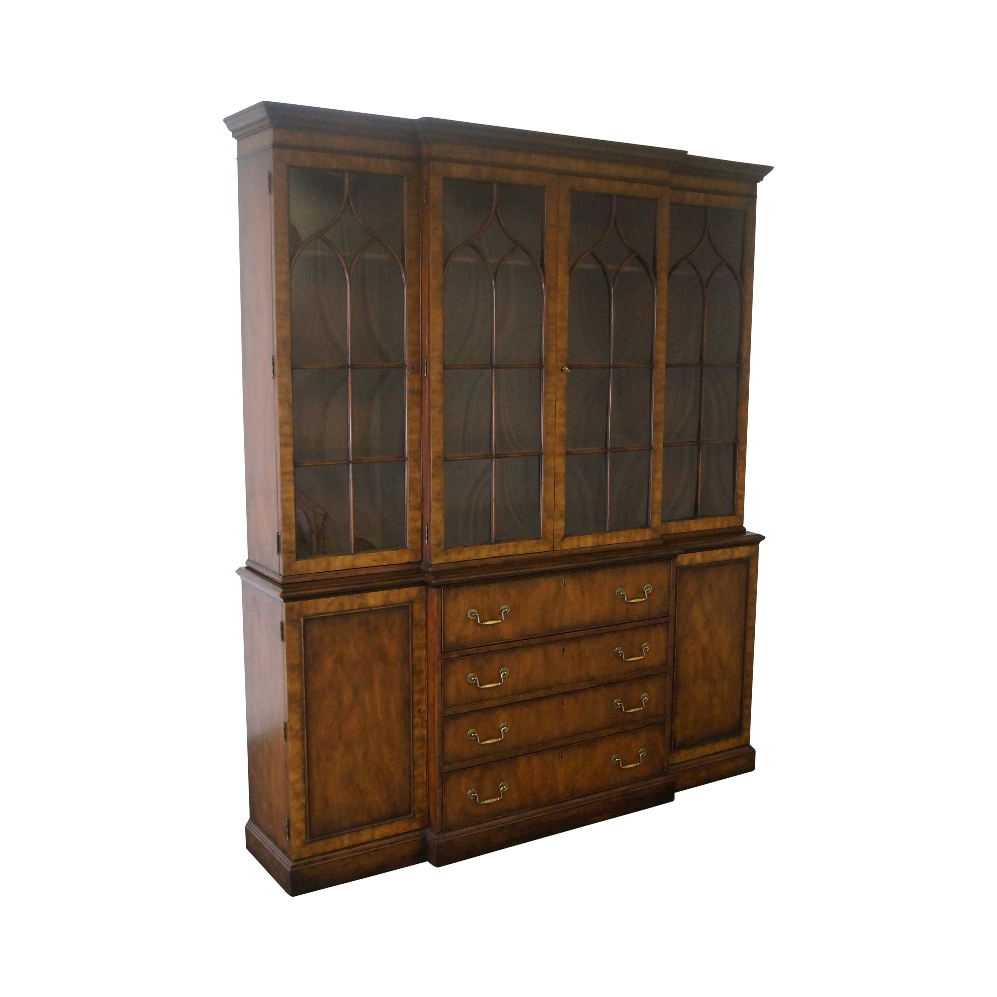 printer cabinet kittinger chippendale style large mahogany cabinet chairish 24945