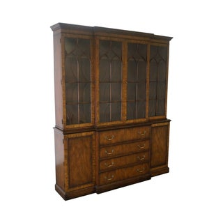 Kittinger Chippendale Style Large Mahogany Cabinet