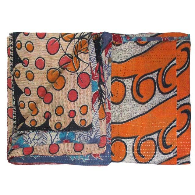 Rug & Relic Vintage Dots & Floral Kantha Quilt - Image 1 of 2
